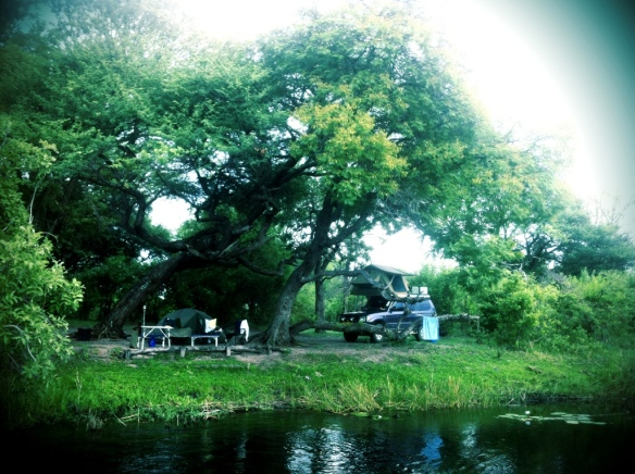 Camping on the Kwando River