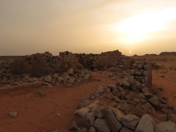 Ruins in the setting sun